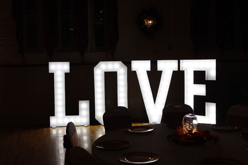 wedding marquee letter lights