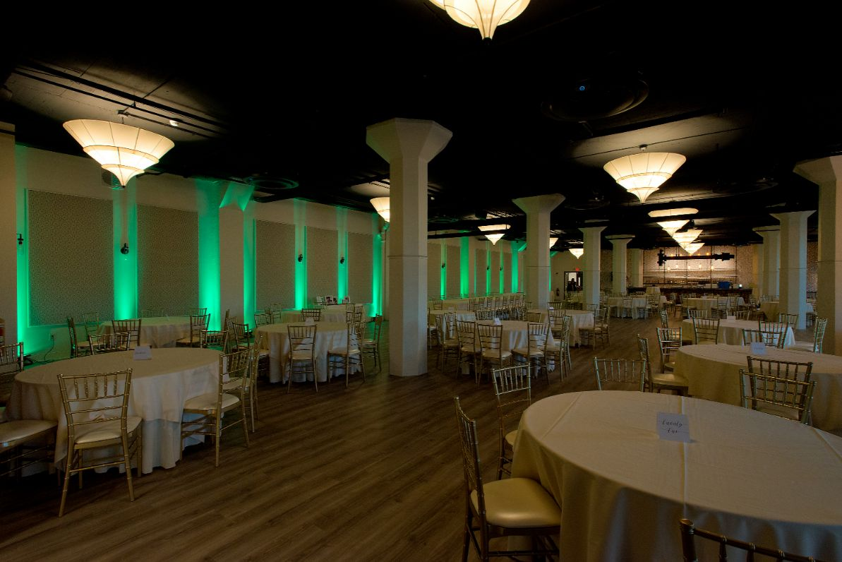 green event lighting