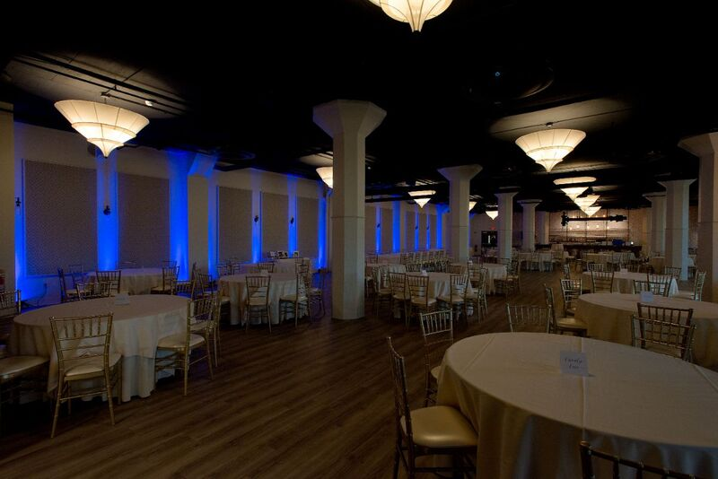 blue event lighting