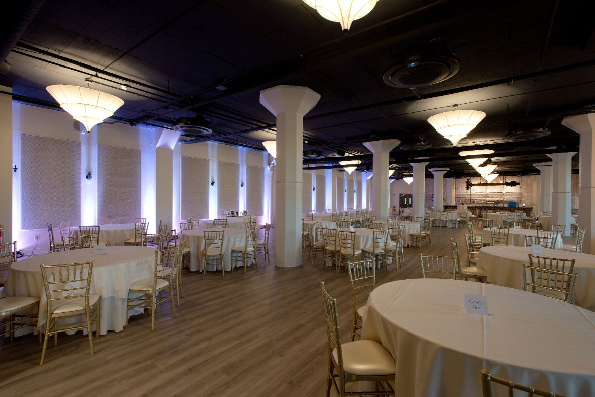 white wedding lighting